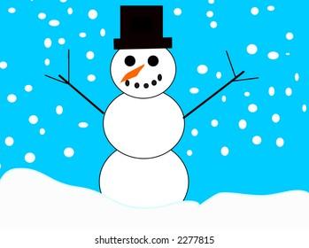 my first vector snowman