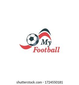 My Football,. Football Vector Logo Template
