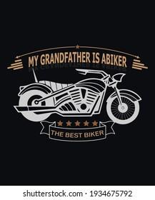 my grandfather is a biker the best biker-t-shirt begins