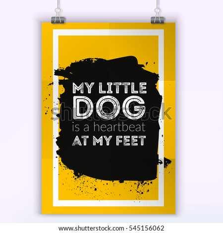My Little Dog Heartbeat My Feet Stock Vector Royalty Free