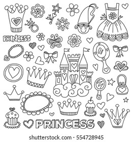 My little princess Hand drawn doodle elements