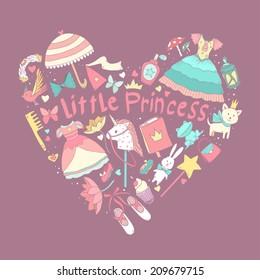 My little princess heart shape