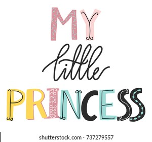 My little princess lettering