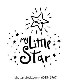 My Little Star card. Bright starry night