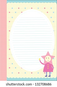 My little star writing paper design - cute for letter use