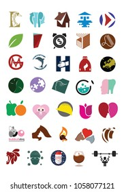 My logo and icon collection, 35 concepts.