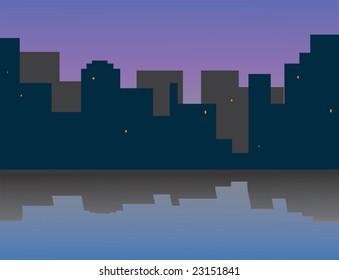 My morning city. Vector illustration