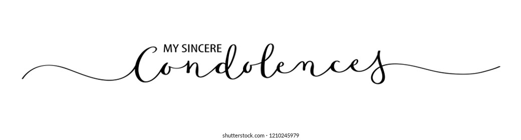 MY SINCERE CONDOLENCES brush calligraphy banner