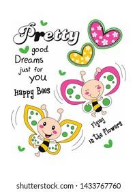 my sweet ladybug  design print vector
