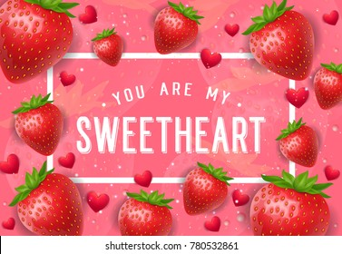 My Sweetheart Lettering with Strawberries