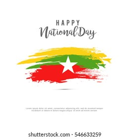 Myanmar independence day background.