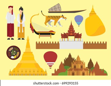 Myanmar vector illustration
