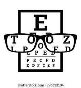 Myopia icon. Simple illustration of myopia vector icon for web
