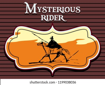 Mysterious rider signboard
