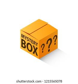 Mystery box isometric icon. Clipart image isolated on white background