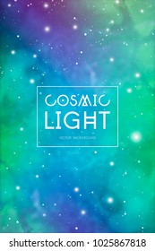 Mystic astrology related cosmic background with outer space texture and stars.