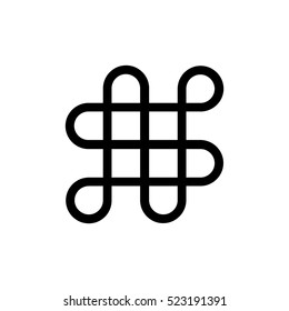 Mystic knot Minimalistic Flat Line Stroke Icon Pictogram Illustration