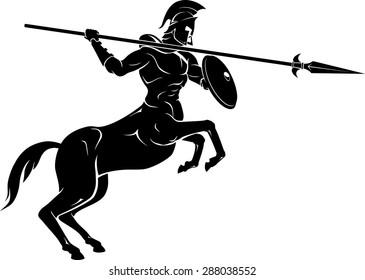 Mythical Centaur Spear Warrior