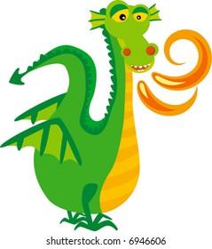 mythological animal: vector dragon
