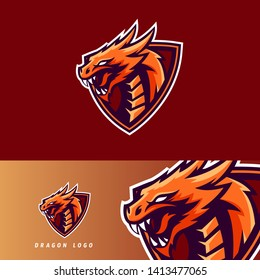 Mythological animals dragon sport esport gaming mascot logo template for streamer team