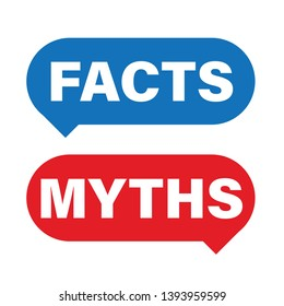 Myths Facts sign button vector