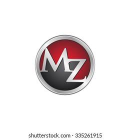 MZ initial circle logo red