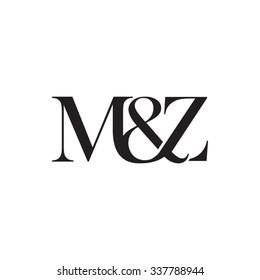 M&Z Initial logo. Ampersand monogram logo