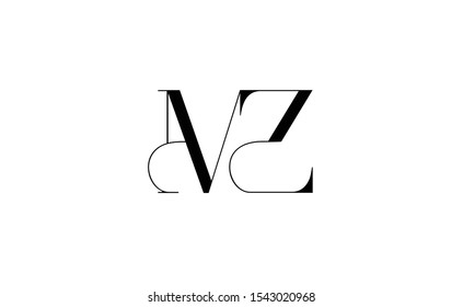 MZ  Letter Logo Design with Creative Modern Trendy Typography