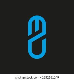 MZ letter logo design. MZ icon
