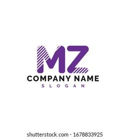 MZ Letter Logo Design. MZ letter logo Vector Illustration - Vector