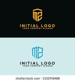 MZ Logo Set modern graphic design, Inspirational logo design for all companies. -Vectors