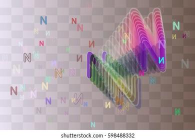 N Alphabet background texture