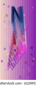 N Alphabet elements idea