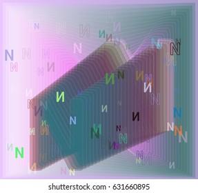 N Alphabet icon idea