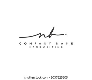 N B Initial handwriting logo