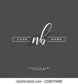 N B NB Initial logo template vector