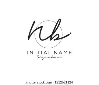 N B Signature initial logo template vector