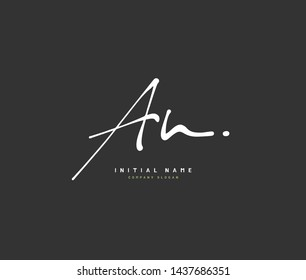 A N AN Beauty vector initial logo, handwriting logo of initial signature, wedding, fashion, jewerly, boutique, floral and botanical with creative template for any company or business.