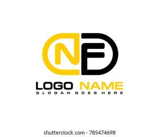 N F initial logo template vexctor