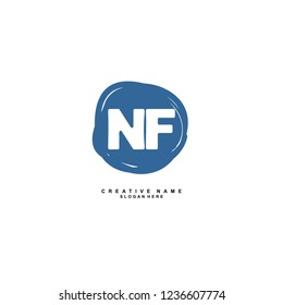 N F NF Initial logo template vector. Letter logo concept