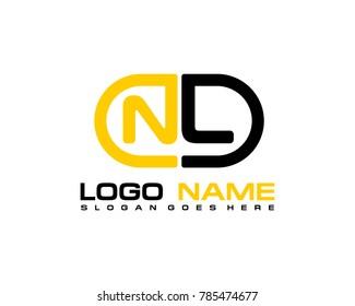 N L initial logo template vexctor