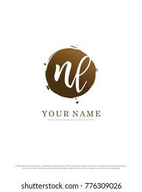 N & L initial splash logo template vector - Shutterstock ID 776309026