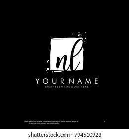 N L initial square logo template vector
