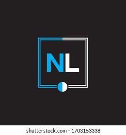 N L letter logo abstract design