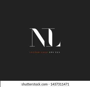 N & L letters Joint logo icon vector for business card and corporate identity.