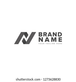 N L negative space logo