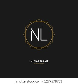 N L NL Initial logo letter with minimalist concept. Vector with scandinavian style logo.