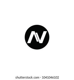n letetr vector logo. av letter vector logo
