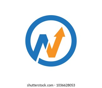 N letter and finance logos