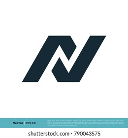 N Letter Icon Vector Logo Template